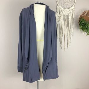 Soft Surroundings Small gray comfy open cardigan